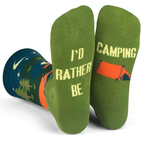 I'd Rather Be Camping (Green/Blue) Socks