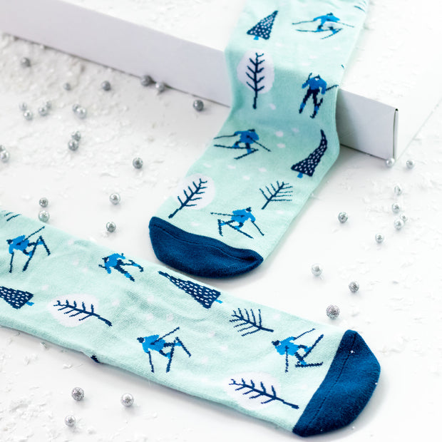 I'd Rather Be Skiing Crew Socks 1