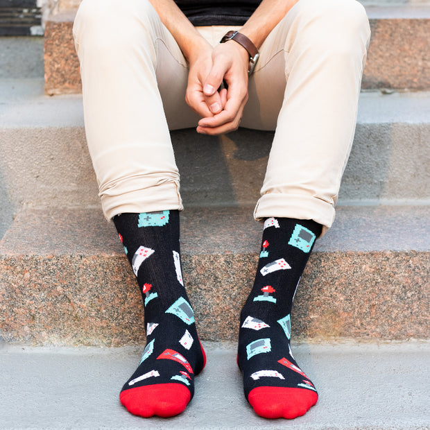 I'd Rather Be Gaming Crew Socks 1
