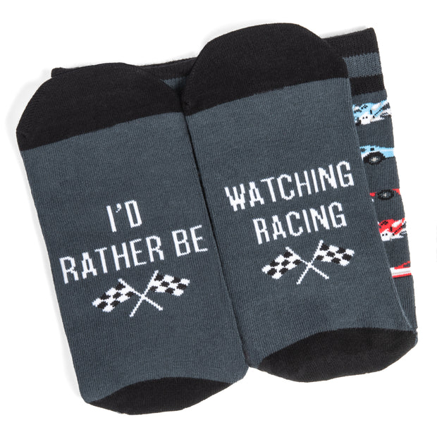 I'd Rather Be Watching Racing Crew Socks 1