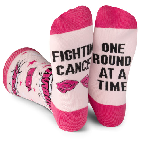 Beat Cancer Pink Socks