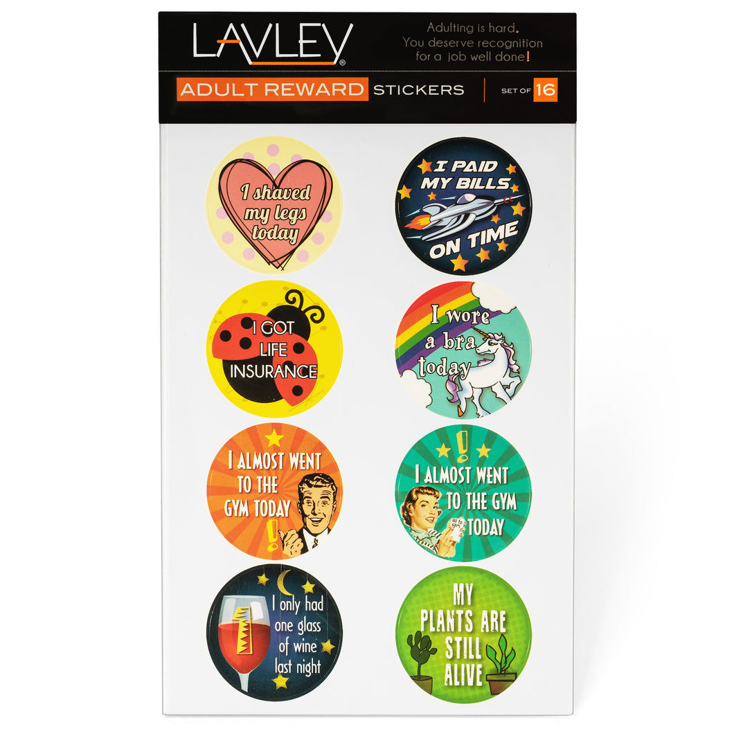 Adult Achievement Sticker 16 Pack