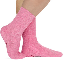 Pink Fuzzy Chocolate Socks