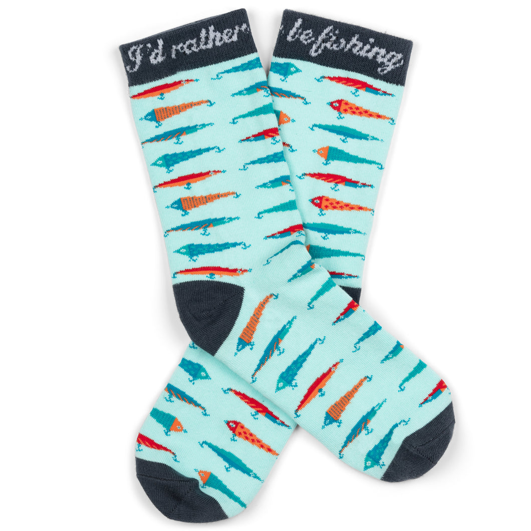 I'd Rather Be Fishing Socks