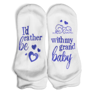 I'd Rather Be With My Grandbaby Ankle Socks