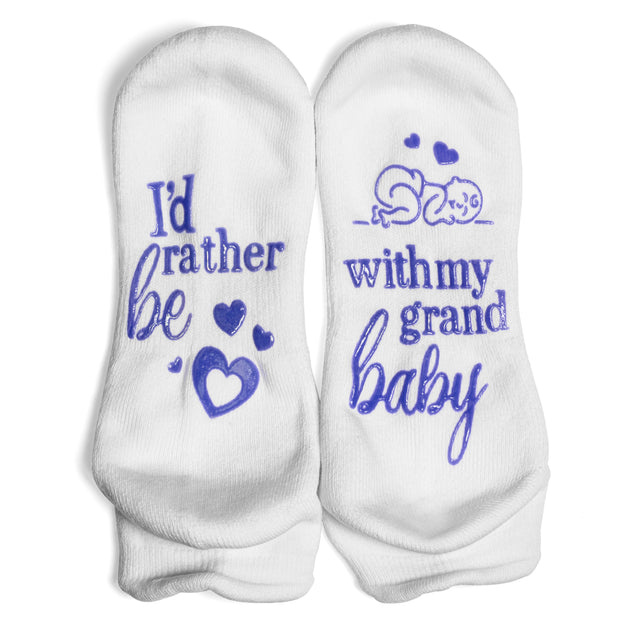 I'd Rather Be With My Grandbaby Ankle Socks 1