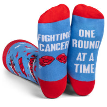 Beat Cancer Blue Socks