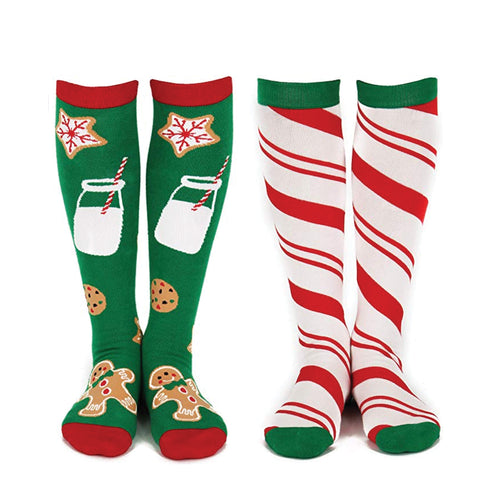 Christmas Cookies & Candy Knee High Socks (2 Pack)