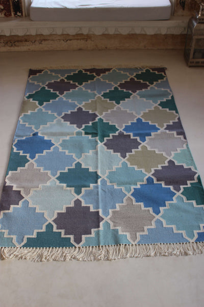 DHURRIES MODERN HAND WOVEN COTTON RUGS