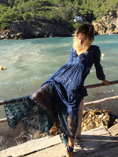 LOVE DRESS OCEAN BLUE WITH LACE