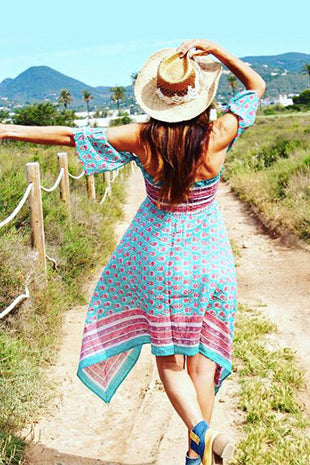 Palm Springs boho beach dress