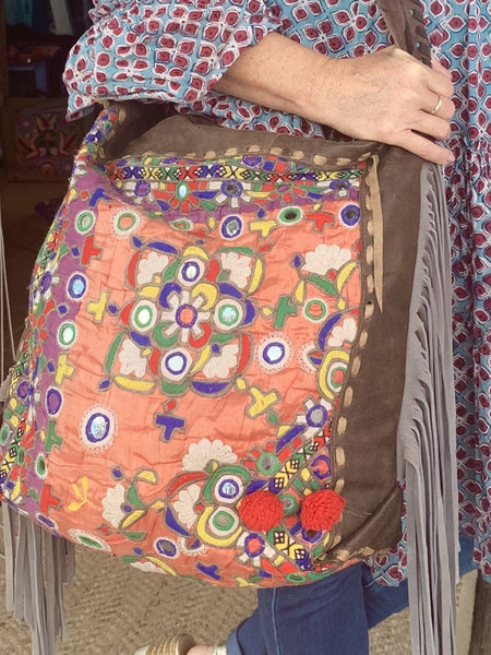 Big banjara tribal boho bag -  AUROBELLE  IBIZA