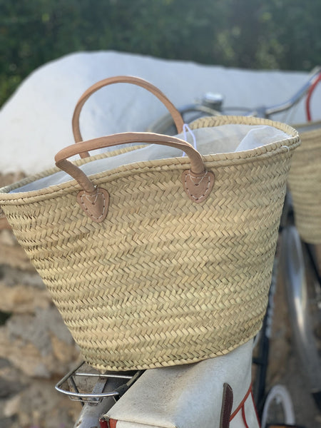 Colourful happy hippie boho Ibiza basket -  AUROBELLE  IBIZA