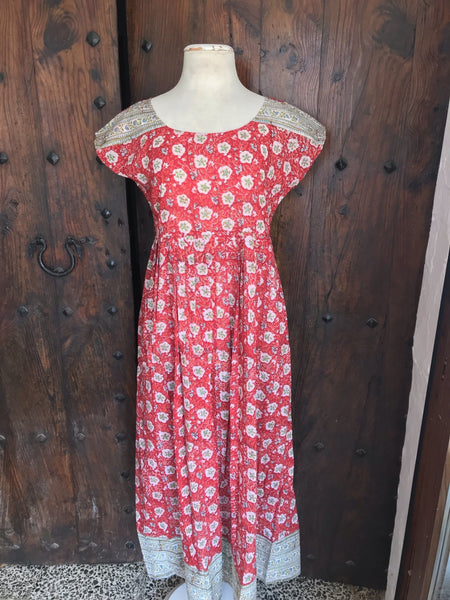 Emilie  sweet summer Dress  Red -  AUROBELLE  IBIZA