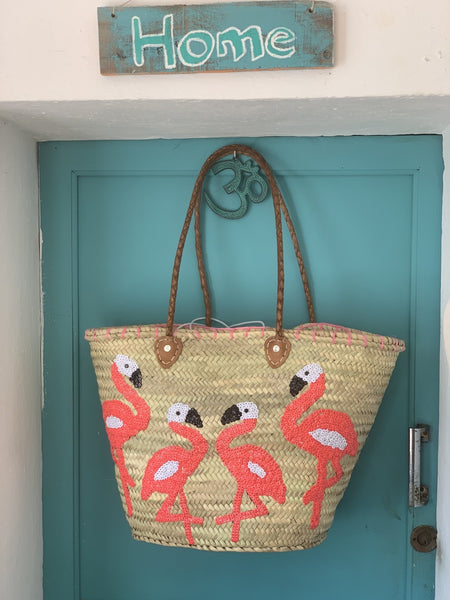 Flamingo  IBIZA baskets from Salinas have arrived -  AUROBELLE  IBIZA
