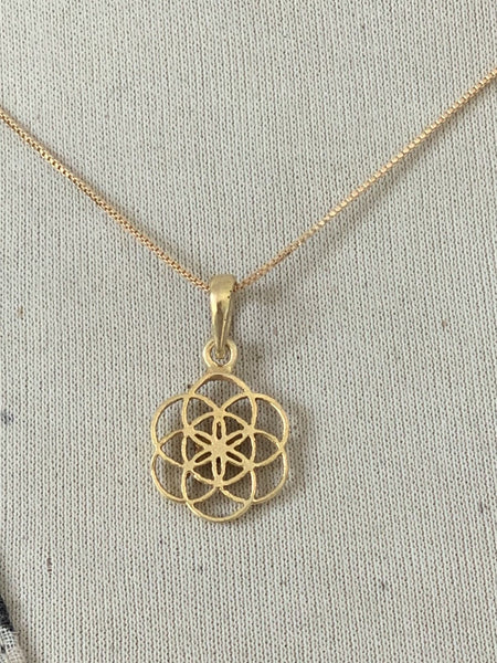 Flower of life necklace -  AUROBELLE  IBIZA