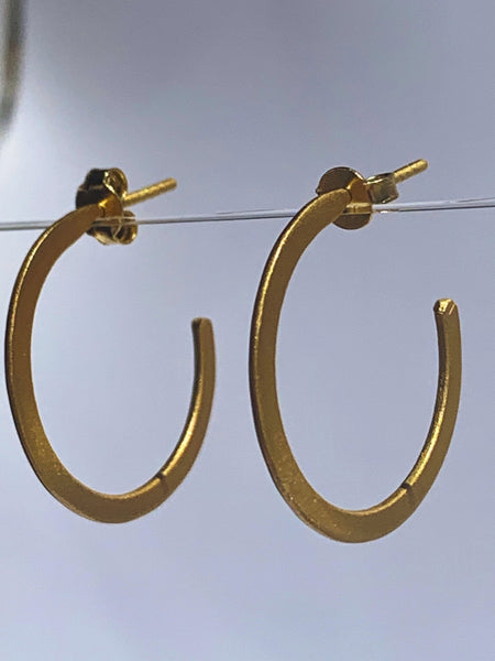 Gold brass designer earrings - AUROBELLE IBIZA