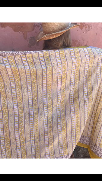 Sarong in hand block cotton