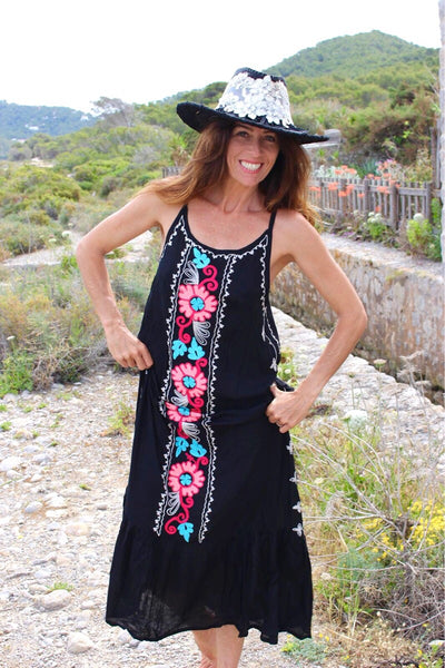 Black maxi boho bali dress