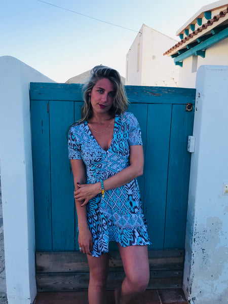 Coachella dress turquoise