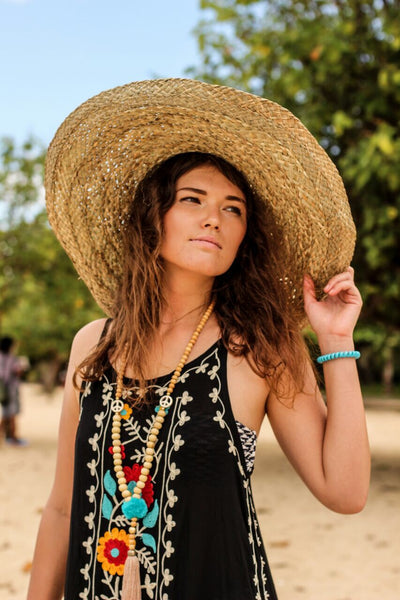 Big round sun hat for Ibiza summers