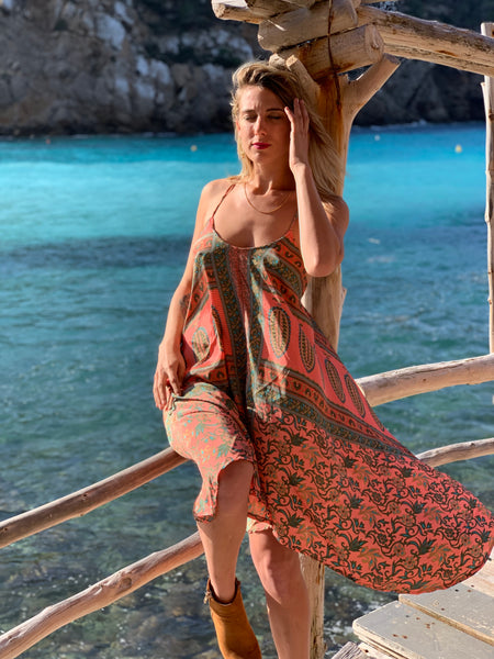 Selena silky Ibiza summer dress