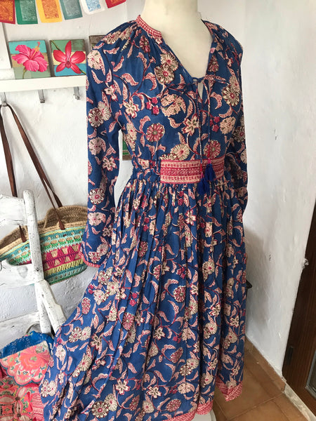 Flower gypsy boho dress