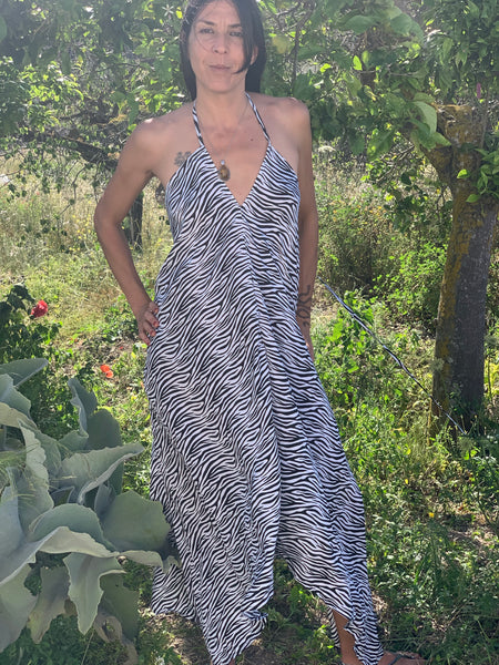 Magic DRESS silky zebra print -  AUROBELLE  IBIZA