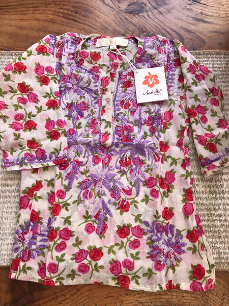 Kids kurtas with hand embroidery