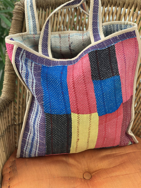 Kantha boho shopping bag -  AUROBELLE  IBIZA