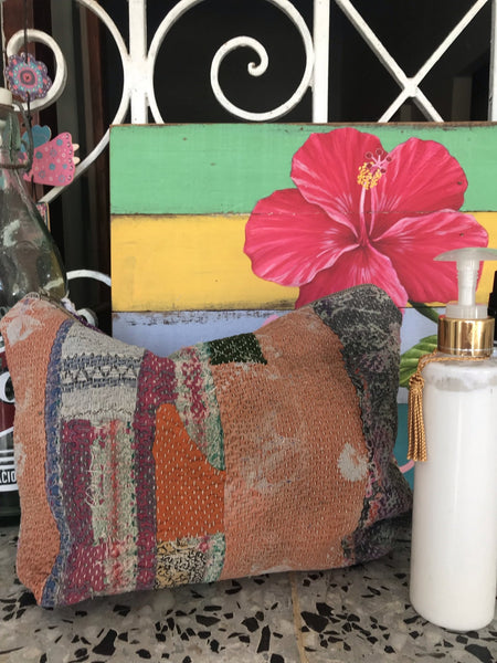 Kantha cosmetic bag big -  AUROBELLE  IBIZA