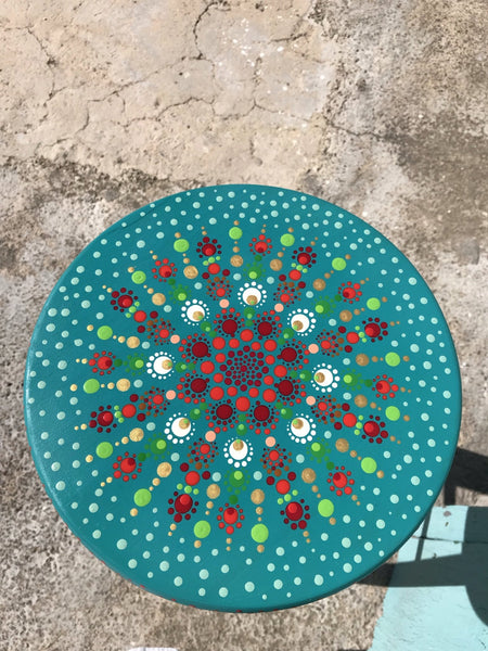 Mandala chair hand painted in ibiza -  AUROBELLE  IBIZA