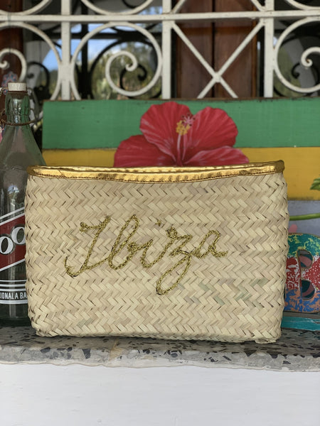 My Ibiza clutch gold hand embroidery -  AUROBELLE  IBIZA