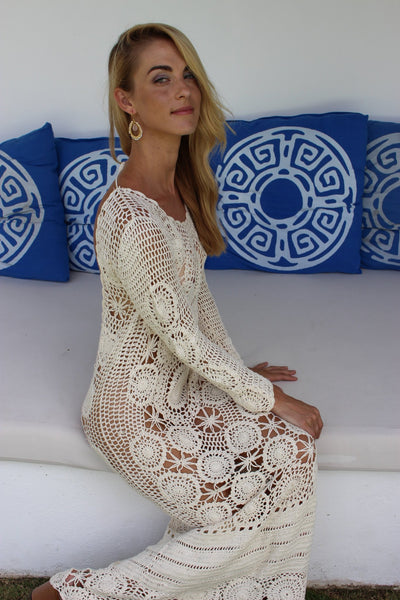 Roxanne boho crochet dress -  AUROBELLE  IBIZA