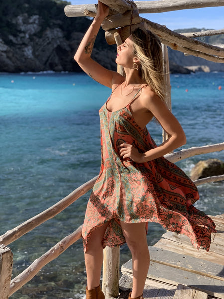 Selena silky Ibiza summer dress -  AUROBELLE  IBIZA