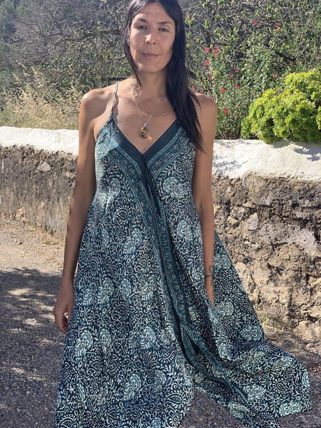 Selina DRESS in green sexy summer style -  AUROBELLE  IBIZA