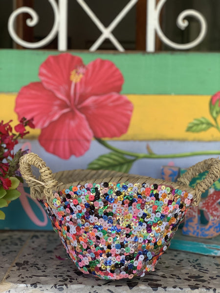 Small and cute sequins   Ibiza basket -  AUROBELLE  IBIZA