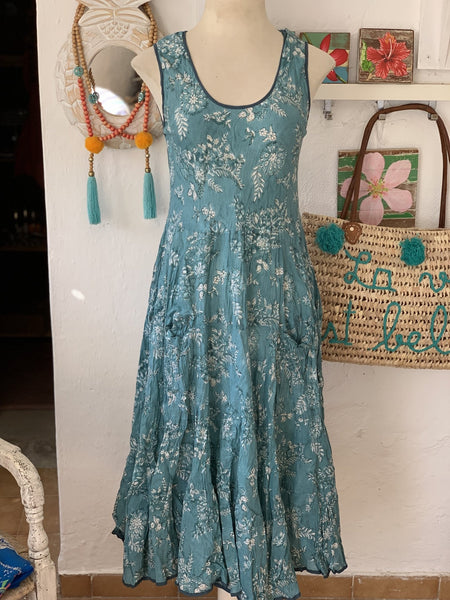 Sun dress turquoise -  AUROBELLE  IBIZA