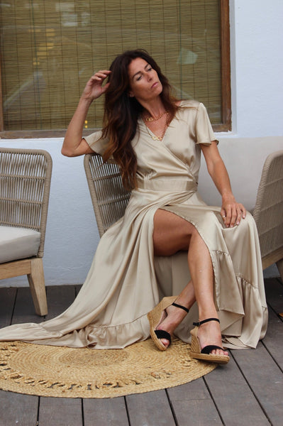 Sunanda organic  Silk dream dress -  AUROBELLE  IBIZA