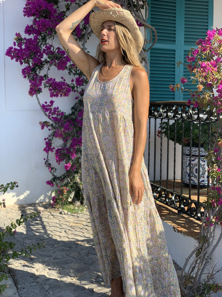 SUNDRESS Maxi in sunny yellow -  AUROBELLE  IBIZA