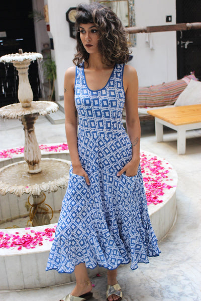 SUNDRESS OPEN SPOT BLUE -  AUROBELLE  IBIZA