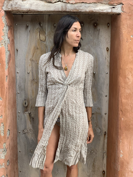 Tamara beige  dress on sale -  AUROBELLE  IBIZA