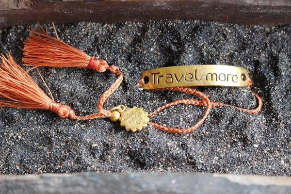 TRAVEL MORE BRACELET -  AUROBELLE  IBIZA