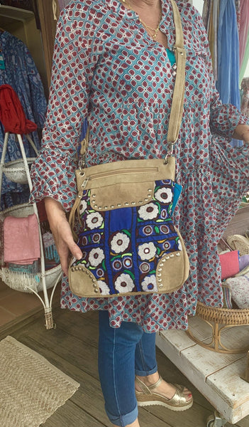 Trendy ibiza   boho bag made with antique fabrics -  AUROBELLE  IBIZA