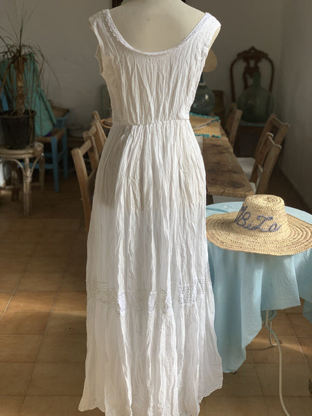 White embroidery dress from Ibiza special price -  AUROBELLE  IBIZA