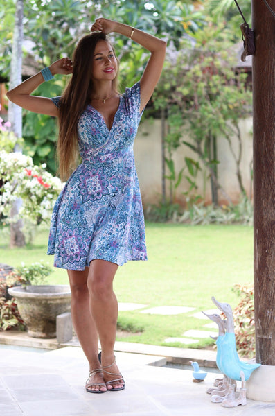 WRAP DRESS SHORT Tosca \sale -  AUROBELLE  IBIZA