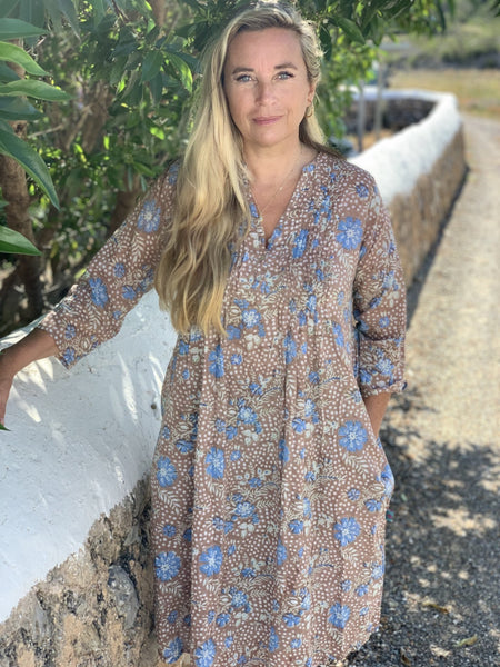 Ziazi dress boho block printed blouse -  AUROBELLE  IBIZA