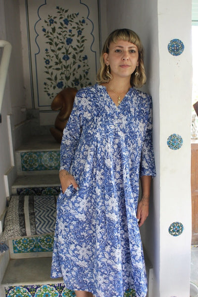 Ziazi  dress cornflower blue -  AUROBELLE  IBIZA
