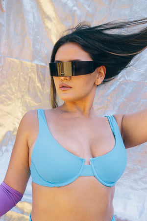 The Gloria //  Bra top - Blue