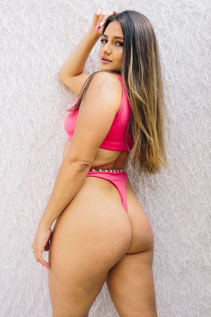 The Cherrie // Thong Bottom - Pink